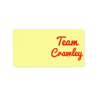 Team Crawley Address Label
