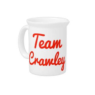 Team Crawley Beverage Pitchers