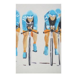team cycle race custom stationery