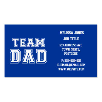 Team Dad in blue Business Cards