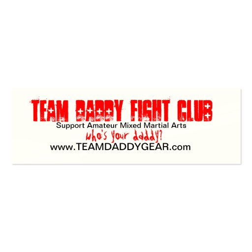 TEAM DADDY Card Business Cards