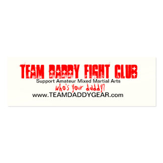 TEAM DADDY Card Pack Of Skinny Business Cards