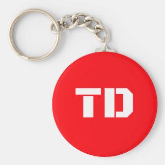 Team Daniel Basic logo Button Keychain