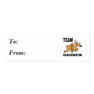 Team Dasher Reindeer Pack Of Skinny Business Cards