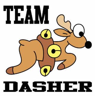 Team Dasher Reindeer Standing Photo Sculpture