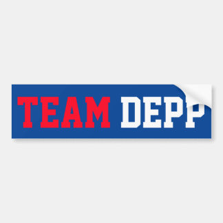 """TEAM DEPP"" BUMPER STICKER"