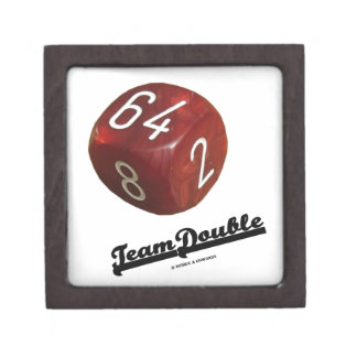 Team Double (Backgammon Doubling Cube) Premium Jewelry Boxes