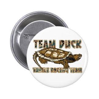 Team Duck - Turtle Racing Team Pinback Buttons