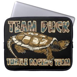 Team Duck - Turtle Racing Team Laptop Computer Sleeve