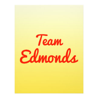 Team Edmonds Personalized Flyer