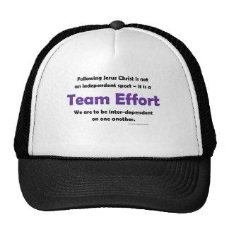 team effort mesh hat