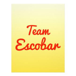Team Escobar Flyer