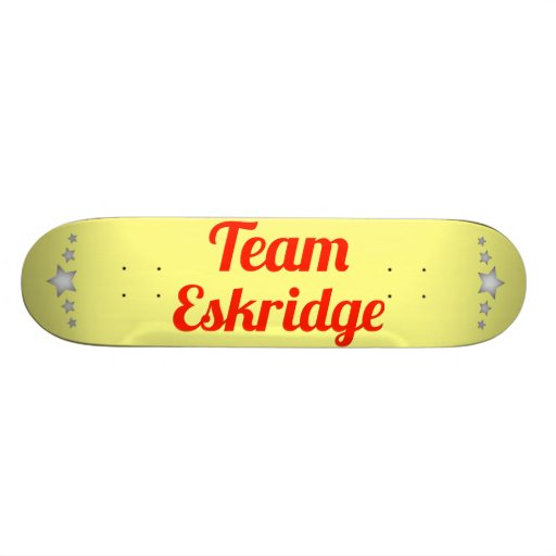 Team Eskridge Skate Decks