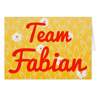 Team Fabian Card