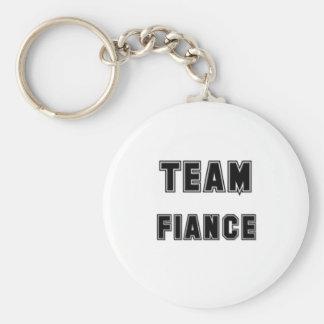 Team Fiance Basic Round Button Key Ring