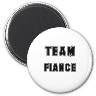 Team Fiance 6 Cm Round Magnet