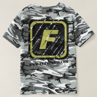 Team FORTI Scratched Logo Camo T-Shirt w/ Back