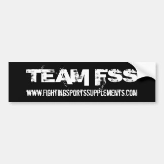 TEAM FSS Bumpersticker Bumper Sticker