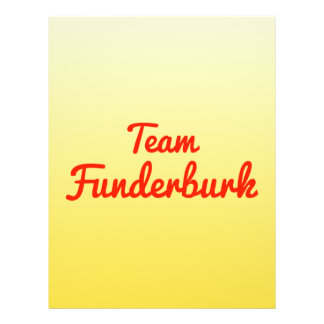 Team Funderburk Flyer Design