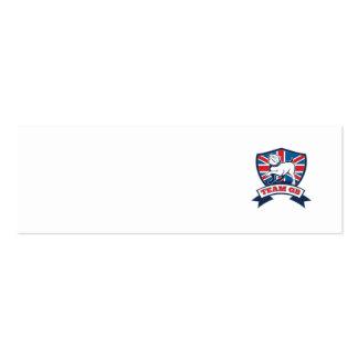 Team GB English bulldog team shield and scroll Business Card
