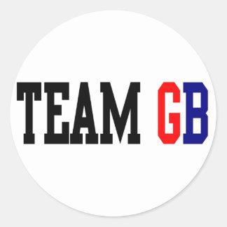 Team GB London Olympics Round Sticker
