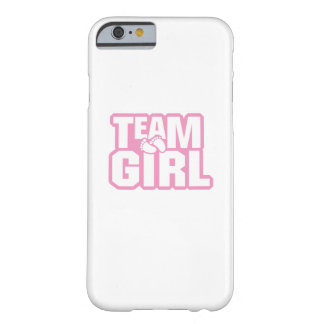 Team Girl Baby Shower Gender Reveal Funny Pregnant Barely There iPhone 6 Case