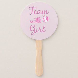 Team Girl with Rattle Hand Fan