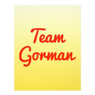 Team Gorman Personalized Flyer
