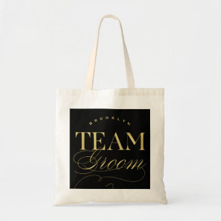 Team Groom Bachelor Party Custom Name Tote Bag