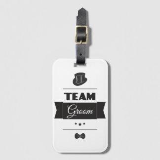Team groom bag tag