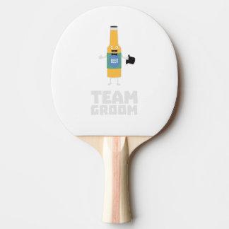 Team Groom Beerbottle Zu77s Ping Pong Paddle