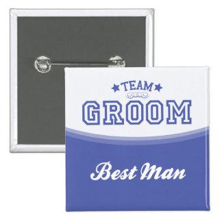 Team Groom-Best Man Stars Button