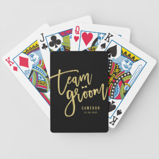 Team Groom Bow Tie Bachelor Party Wedding Custom Poker Deck