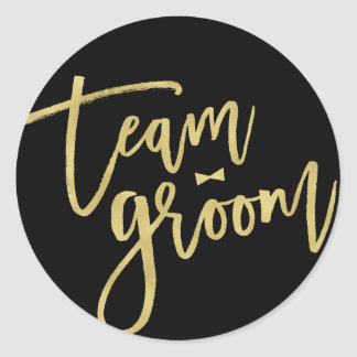 Team Groom Bow Tie Bachelor Party Wedding Stickers