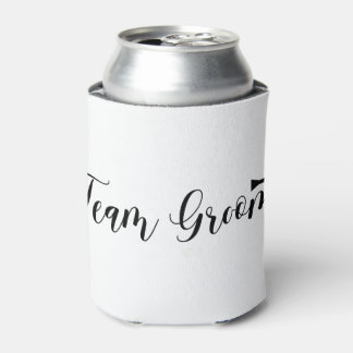 Team Groom-Bowtie, black type, Bachelor-party Can Cooler