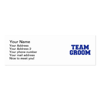 Team Groom Business Card Template
