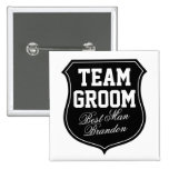 Team Groom buttons | Personalise for wedding party