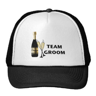 Team Groom (champagne) Trucker Hats