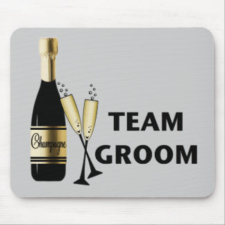 Team Groom champagne Mouse Pads
