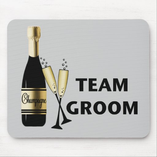 Team Groom (champagne) Mouse Pads