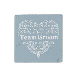 Team Groom custom names & year wedding magnet