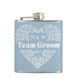 Team Groom custom text flask