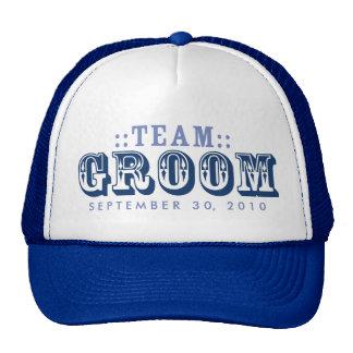 """TEAM GROOM"" Customized Wedding Day Trucker Hat"