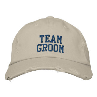 Team Groom Embroidered Ball Cap Embroidered Cap