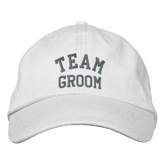 Team Groom Embroidered Cap