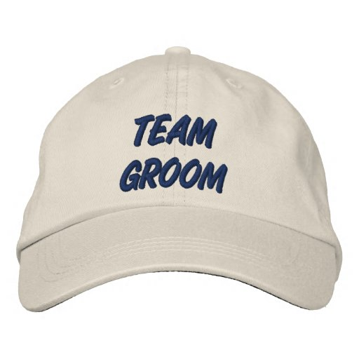 Team Groom Embroidered Hats