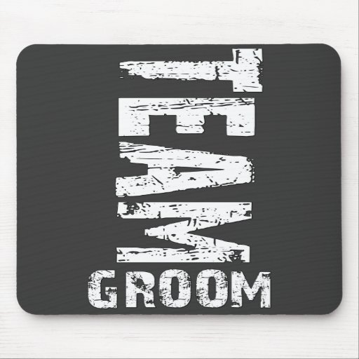 Team Groom Extra Large Grunge Text Mouse Pads
