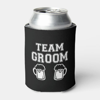 Team Groom funny Groomsman funny bachelor party Can Cooler