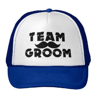 Team Groom Funny Groomsmen Mustache Cap