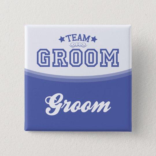 Team Groom-Groom (Stars) Button